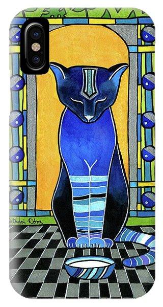 He Is Back - Blue Cat Art IPhone Case