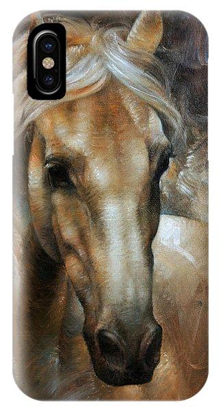 Head iPhone Case - Head Horse 2 by Arthur Braginsky