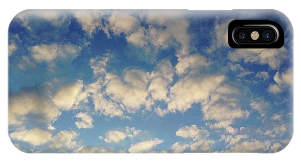 Grey Skies iPhone Case - Head In The Clouds- Art By Linda Woods by Linda Woods
