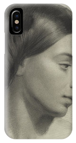 Head Of A Girl IPhone Case