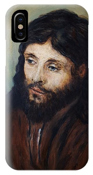 Head Of Christ After Rembrandt IPhone Case