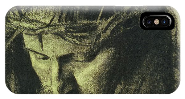 Life Of Christ iPhone Case - Head Of Christ by Franz Von Stuck
