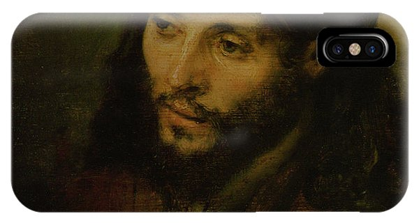 Life Of Christ iPhone Case - Head Of Christ by Rembrandt