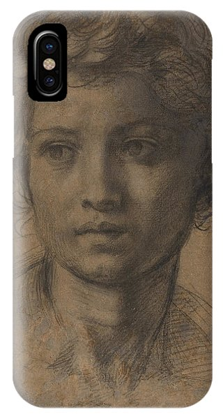 iPhone Case - Head Of Saint John The Baptist by Andrea Del Sarto