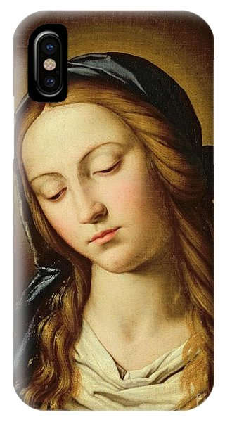 Mary Mother Of God iPhone Case - Head Of The Madonna by Il Sassoferrato