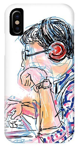Good Humor iPhone Case - Headphones And Laptop by Robert Yaeger