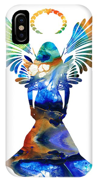 Life Of Christ iPhone Case - Healing Angel - Spiritual Art Painting by Sharon Cummings