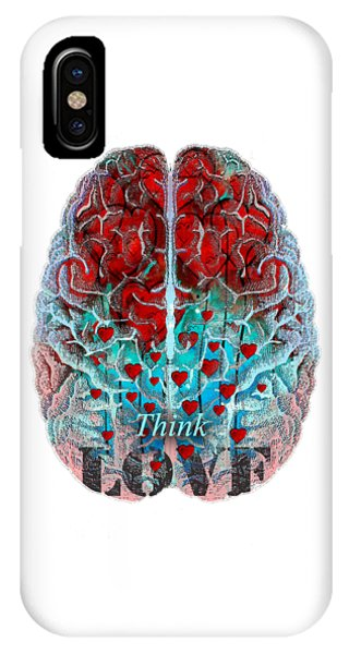 Heart Art - Think Love - By Sharon Cummings IPhone Case