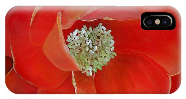 Heart-centered Rose IPhone Case