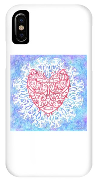 Heart In A Snowflake II IPhone Case