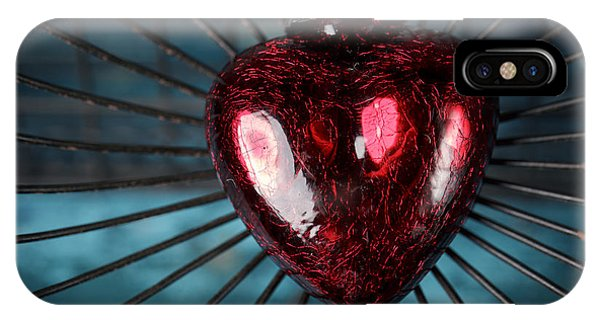 Escape iPhone Case - Heart In Cage by Nailia Schwarz
