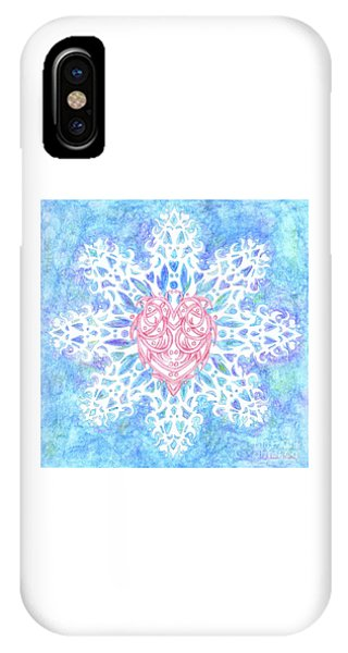 Heart In Snowflake IPhone Case