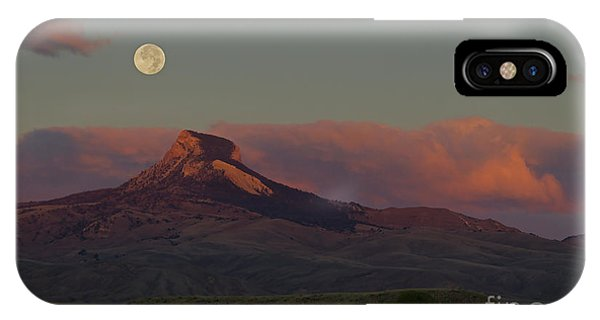 Heart Mountain And Full Moon-signed-#0273  #0273 IPhone Case