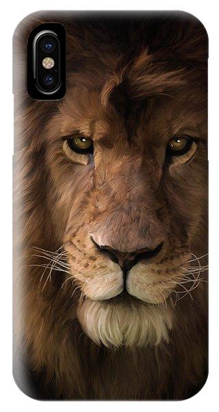 Heart Of A Lion - Wildlife Art IPhone Case