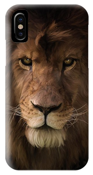 Heart Of A Lion - Wildlife Art IPhone Case