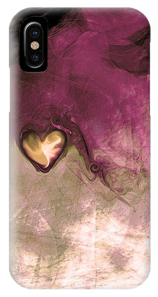 Abstract Digital iPhone Case - Heart Of Gold by Linda Sannuti