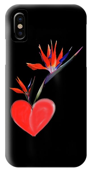 IPhone Case featuring the digital art Heart  Of Paradise by Teresa Epps