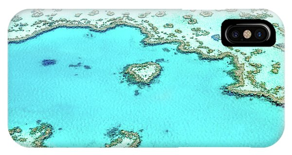 Teal iPhone Case - Heart Of The Reef by Az Jackson