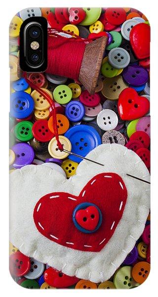 Heart Pushpin Chusion  IPhone Case
