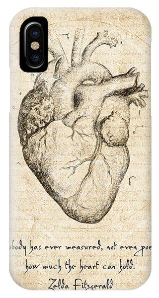 Contemporary iPhone Case - Heart Quote By Zelda Fitzgerald by Zapista Zapista