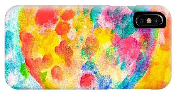 iPhone Case - Heart Rainbow by Kendall Kessler