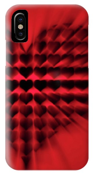 Heart Rays IPhone Case