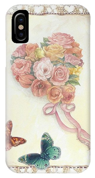 Heart Shape Bouquet With Butterfly IPhone Case