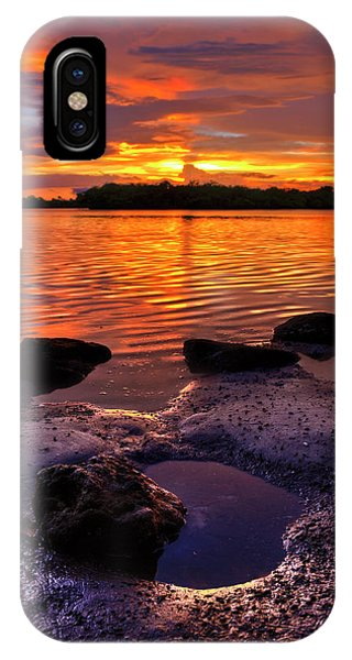 Heart Shaped Pool At Sunset Over Lake Worth Lagoon On Singer Island Florida IPhone Case