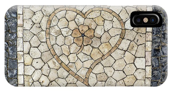 Heart Shaped Traditional Portuguese Pavement IPhone Case