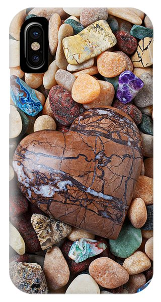 Heart Stone Among River Stones IPhone Case