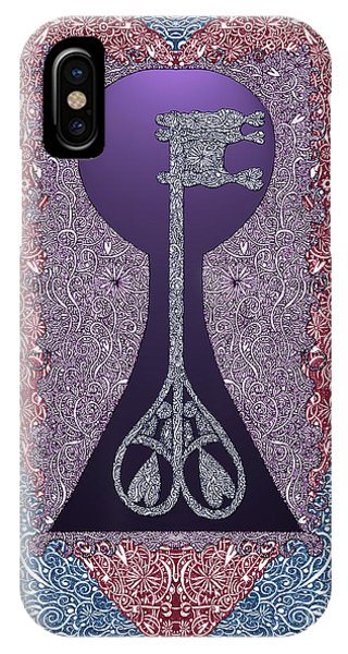 Heart With Lock And Skeleton Key IPhone Case