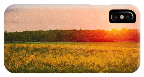 Farm iPhone Case - Heartland Glow by Tom Mc Nemar
