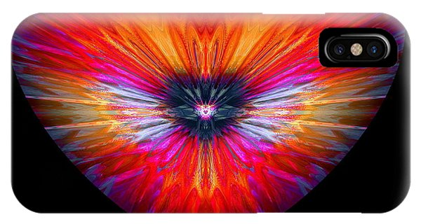 IPhone Case featuring the digital art Hearts #26 by Visual Artist Frank Bonilla