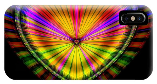 IPhone Case featuring the digital art Hearts #9 by Visual Artist Frank Bonilla