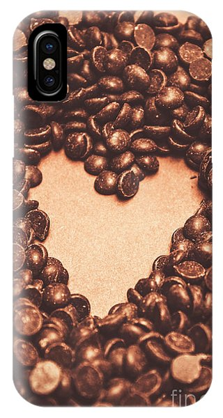 Dessert iPhone Case - Hearts And Chocolate Drops. Valentines Background by Jorgo Photography - Wall Art Gallery