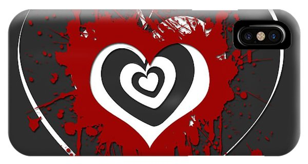 Love iPhone Case - Hearts Graphic 1 by Melissa Smith