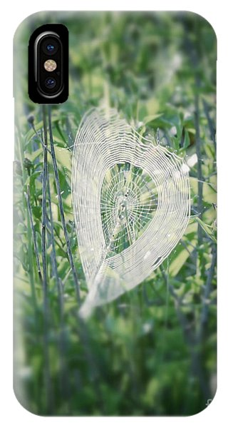 Hearts In Nature - Heart Shaped Web IPhone Case