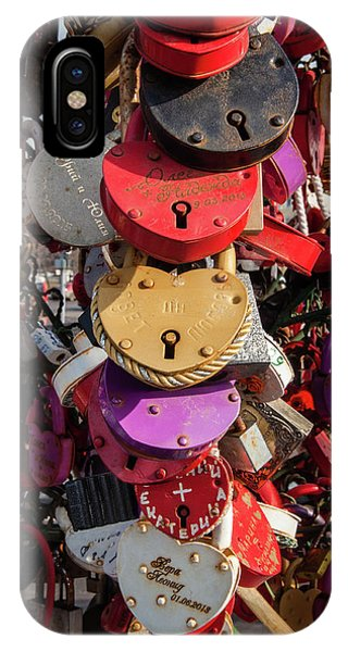 Hearts Locked In Love IPhone Case