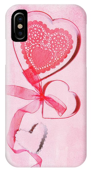 Icing iPhone Case - Hearts by Rebecca Cozart