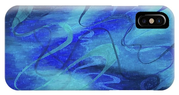 Heartsong Blue 1 IPhone Case