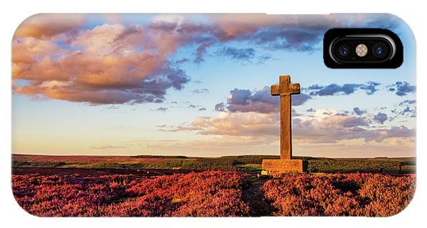 Upland iPhone Case - Heather At Sunset At Ana Cross by Janet Burdon