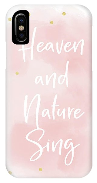 Pink iPhone Case - Heaven And Nature Sing Pink- Art By Linda Woods by Linda Woods