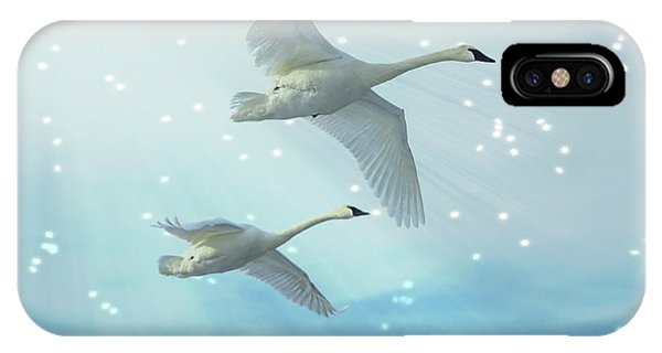 Heavenly Swan Flight IPhone Case