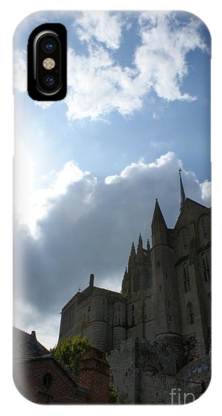 iPhone Case - Heavens Above Mont St. Michel Abbey by Christine Jepsen