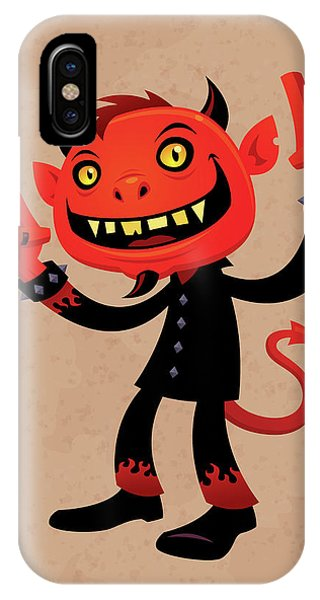 Music iPhone Case - Heavy Metal Devil by John Schwegel