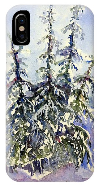 Heavy Snow In The Cascades IPhone Case