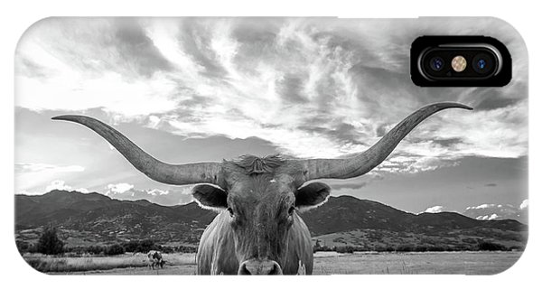 Texas iPhone Case - Heber Valley Longhorn by Johnny Adolphson