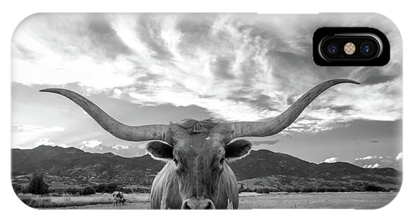 University iPhone Case - Heber Valley Longhorn by Johnny Adolphson