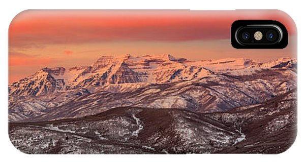 Heber Valley Sunrise Panorama. IPhone Case