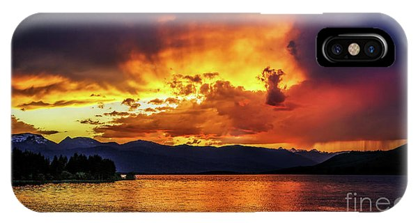 Hebgen Lake Sunset IPhone Case